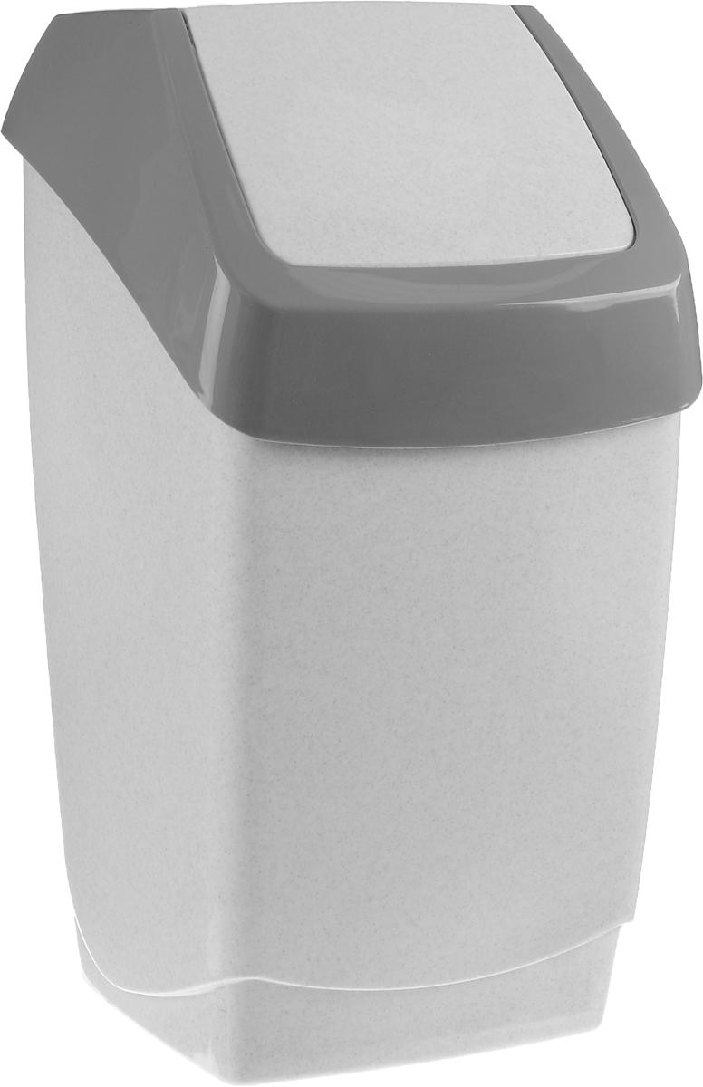 Контейнер для мусора Idea Хапс, цвет: серый мрамор, 25 л68/5/3Контейнер для мусора Idea Хапс изготовлен из прочного полипропилена (пластика). Контейнер снабжен удобной съемной крышкой с подвижной перегородкой. Благодаря лаконичному дизайну, контейнер идеально впишется в интерьер и дома, и офиса.