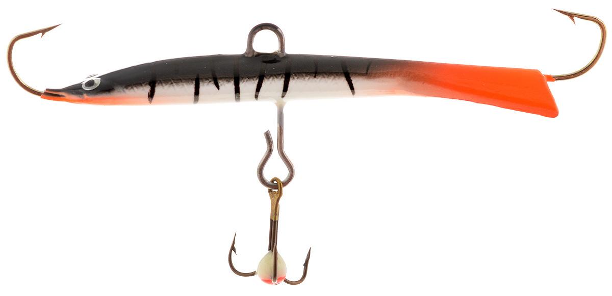 Балансир Dixxon Черная Смерть, цвет: оранжевый, черный, серый, 15 г (65 мм). 5886458864Балансир с длинным, прогонистым телом для ловли со льда. Оснащен высококачественными впаянными крючками пр-во Корея.Подвесной тройник MUSTAD с каплей. Застежка - MARUTO (Япония)