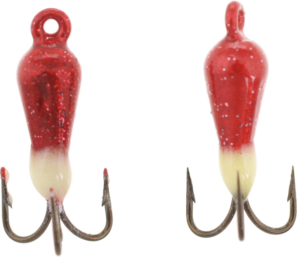 Чертик вольфрамовый Finnex, цвет: рубиновый, белый, 0,38 г, 2 шт57576Вольфрамовый чертик Finnex - одна из самых популярных приманок для ловли леща, плотвы и другой белой рыбы. Особенно хорошо работает приманка на всевозможных водохранилищах. Не пропустит ее и другая рыба, в том числе окунь, судак и щука.
