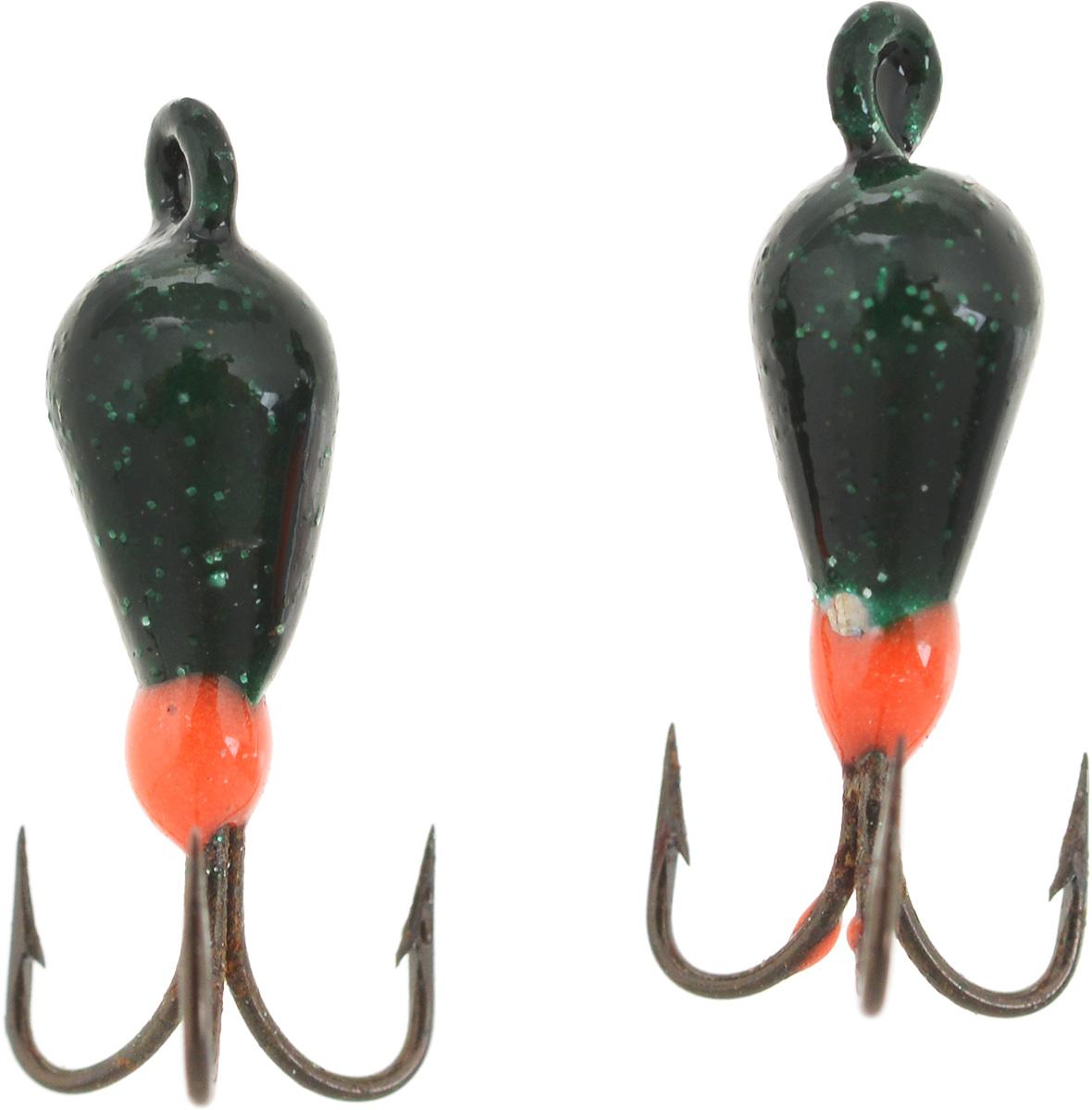 Чертик вольфрамовый Finnex, цвет: темно-зеленый, оранжевый, 0,56 г, 2 шт41658Вольфрамовый чертик Finnex - одна из самых популярных приманок для ловли леща, плотвы и другой белой рыбы. Особенно хорошо работает приманка на всевозможных водохранилищах. Не пропустит ее и другая рыба, в том числе окунь, судак и щука.