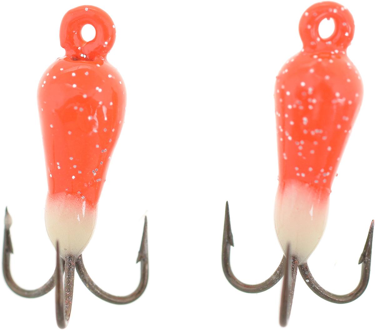 Чертик вольфрамовый Finnex, цвет: оранжевый, белый, 0,38 г, 2 шт010-01199-23Вольфрамовый чертик Finnex - одна из самых популярных приманок для ловли леща, плотвы и другой белой рыбы. Особенно хорошо работает приманка на всевозможных водохранилищах. Не пропустит ее и другая рыба, в том числе окунь, судак и щука.