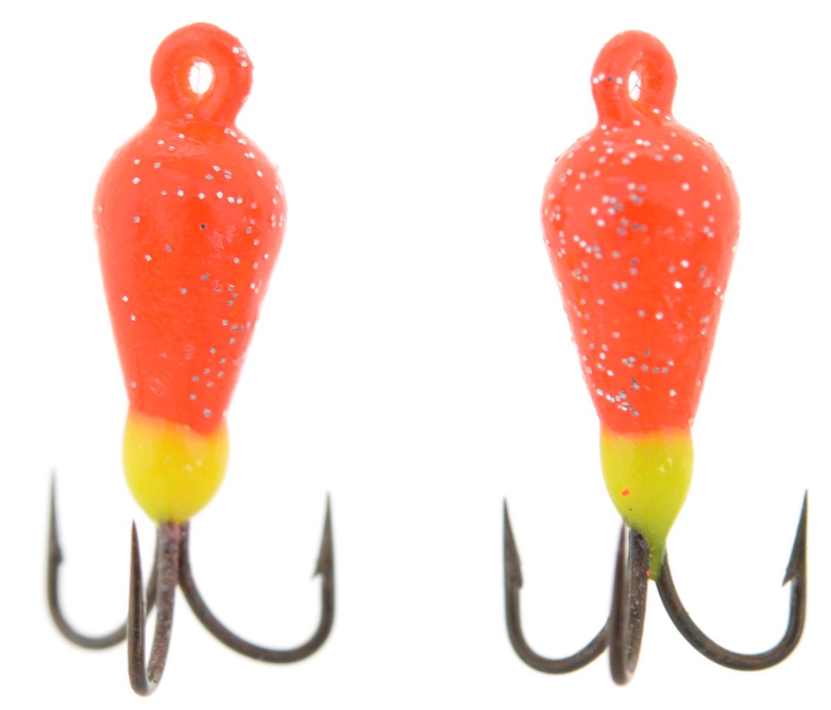 Чертик вольфрамовый Finnex, цвет: оранжевый, салатовый, 0,56 г, 2 шт57304Вольфрамовый чертик Finnex - одна из самых популярных приманок для ловли леща, плотвы и другой белой рыбы. Особенно хорошо работает приманка на всевозможных водохранилищах. Не пропустит ее и другая рыба, в том числе окунь, судак и щука.