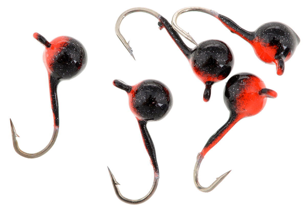 Мормышка вольфрамовая Asseri Шар, с ушком, цвет: черный, оранжевый, диаметр 3,5 мм, 0,4 г, 5 шт48301Мормышка Asseri Шар изготовлена из вольфрамового сплава и оснащена крючком.Она небольшого размера и окрашена так, чтобы издалека привлечь рыбу. Главное достоинство такой мормышки - большой вес при малом объеме. Эта особенность дает большие преимущества при ловле, так как позволяет быстро погрузить приманку на требуемую глубину и лучше чувствовать игру мормышки.