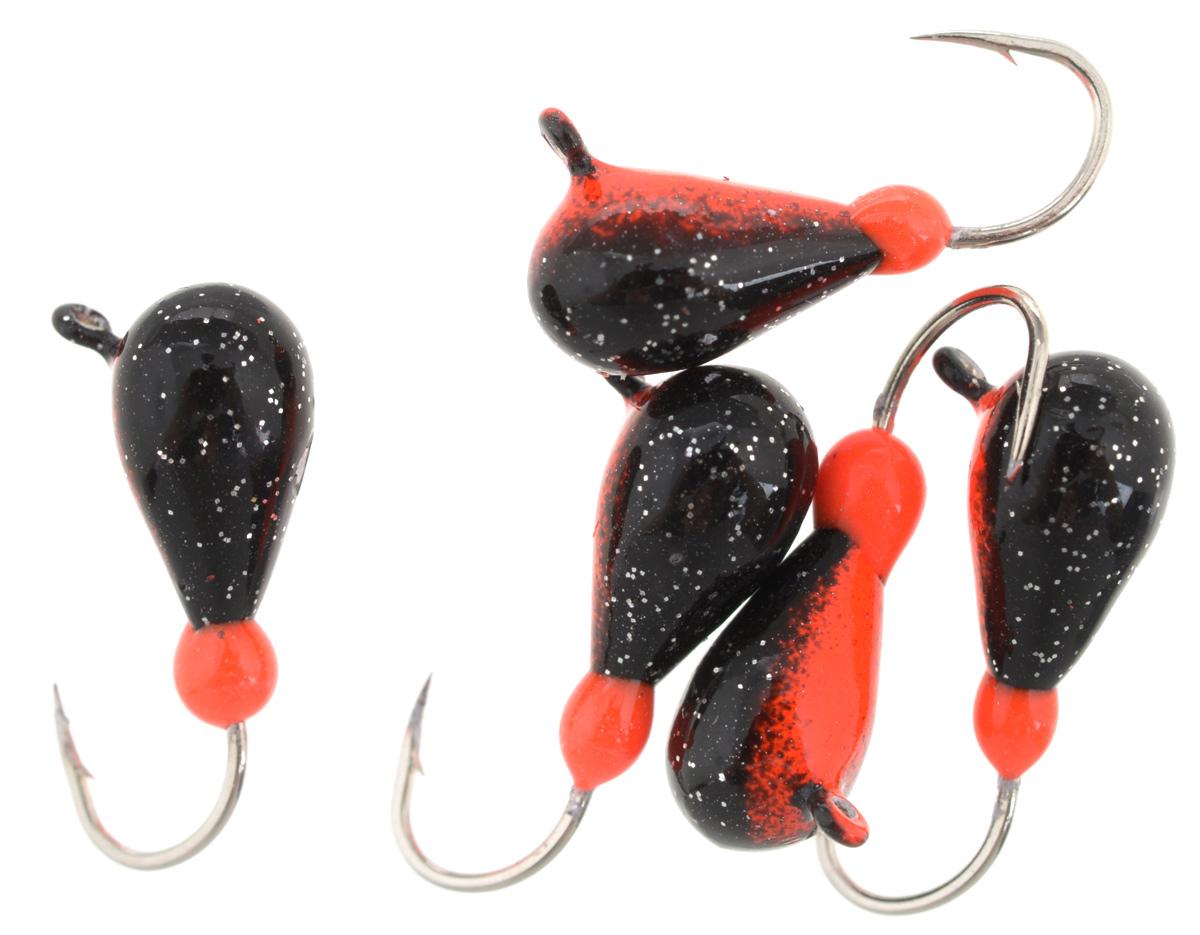 Мормышка вольфрамовая Finnex Капля с ушком, 1,85 г, 5 шт. K5-RB
