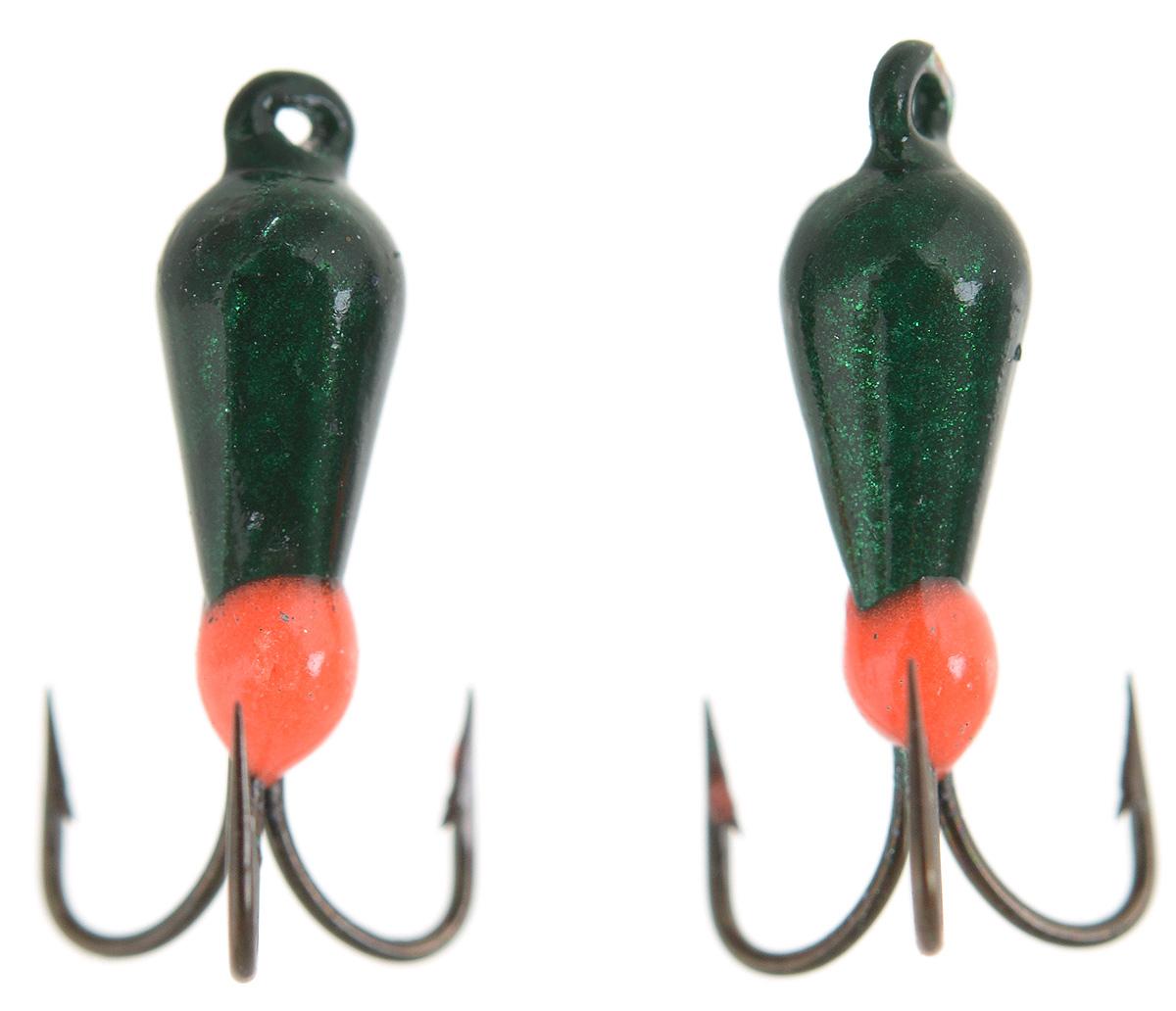 Чертик вольфрамовый Finnex, цвет: темно-зеленый, оранжевый, 0,38 г, 2 шт70436Вольфрамовый чертик Finnex - одна из самых популярных приманок для ловли леща, плотвы и другой белой рыбы. Особенно хорошо работает приманка на всевозможных водохранилищах. Не пропустит ее и другая рыба, в том числе окунь, судак и щука.