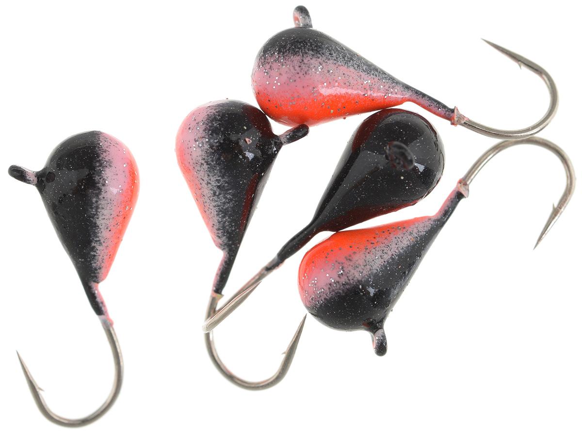 Мормышка вольфрамовая Asseri Капля, с ушком, цвет: черный, оранжевый, диаметр 5 мм, 1,54 г, 5 шт10936Мормышка Asseri Капля изготовлена из вольфрамового сплава и оснащена крючком.Она небольшого размера и окрашена так, чтобы издалека привлечь рыбу. Главное достоинство такой мормышки - большой вес при малом объеме. Эта особенность дает большие преимущества при ловле, так как позволяет быстро погрузить приманку на требуемую глубину и лучше чувствовать игру мормышки.