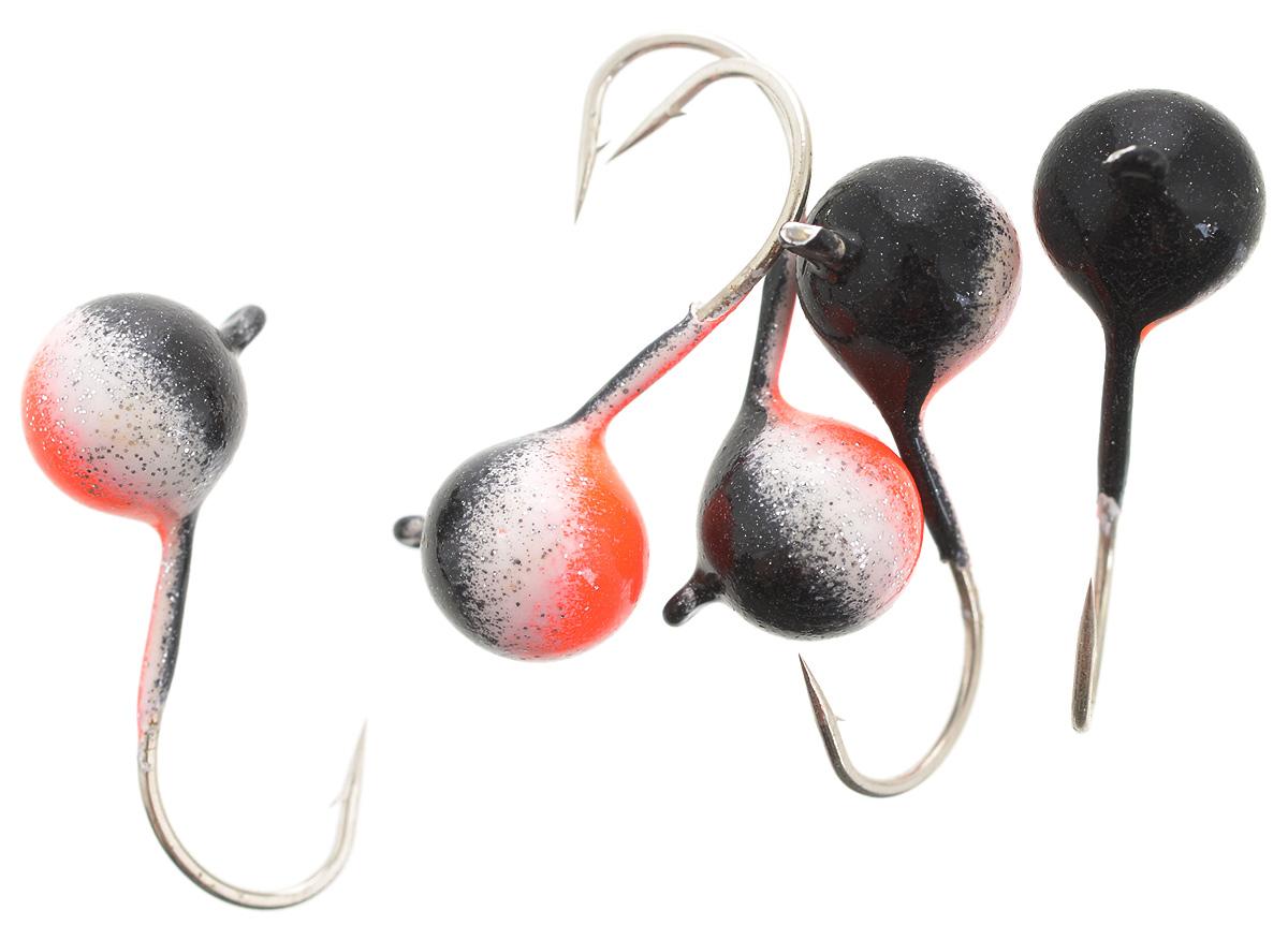 Мормышка вольфрамовая Asseri Шар, с ушком, цвет: черный, оранжевый, белый, диаметр 6 мм, 2,1 г, 5 шт43545Мормышка Asseri Шар изготовлена из вольфрамового сплава и оснащена крючком.Она небольшого размера и окрашена так, чтобы издалека привлечь рыбу. Главное достоинство такой мормышки - большой вес при малом объеме. Эта особенность дает большие преимущества при ловле, так как позволяет быстро погрузить приманку на требуемую глубину и лучше чувствовать игру мормышки.