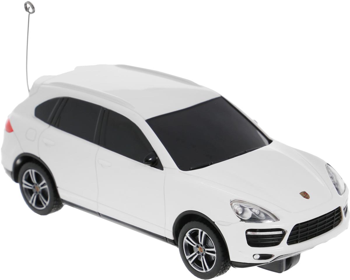 """Радиоуправляемая модель Rastar """"Porsche Cayenne Turbo"""" является точной копией настоящего автомобиля в масштабе 1/32. Управление автомобилем происходит с помощью удобного пульта. Машина двигается вперед и назад, поворачивает направо, налево и останавливается. Колеса игрушки прорезинены и обеспечивают плавный ход, машинка не портит напольное покрытие. Пульт управления работает на частоте 27 MHz. Радиоуправляемые игрушки способствуют развитию координации движений, моторики и ловкости. Ваш ребенок часами будет играть с моделью, придумывая различные истории и устраивая соревнования. Порадуйте его таким замечательным подарком! Машина работает от 3 батареек напряжением 1,5V типа АА (не входят в комплект). Пульт управления работает от 2 батареек напряжением 1,5V типа АА (не входят в комплект)."""