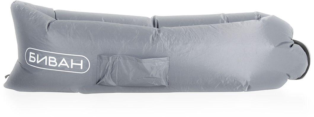 Биван оригинальный, надувной диван, цвет: серый, 200 х 90 смC0038550Надувается за 15 секунд без насоса, держит воздух 12 часов, ремонтопригоден (рем. комплект продается отдельно)