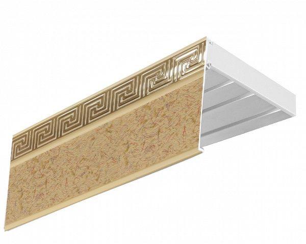 Багет Эскар Версаче, цвет: песок бежевый, 5 см х 120 смCLP446Багет для карниза крепится к карнизным шинам. Благодаря багетному карнизу, от взора скрывается верхняя часть штор (шторная лента, крючки), тем самым придавая окну и интерьеру в целом изысканный вид и шарм.Вы можете выбрать багетные карнизы для штор среди широкого ассортимента багета Российского производства. У нас множество идей использования багета для Вашего интерьера, которые мы готовы воплотить!Грамотно подобранное оформление – ключ к превосходному результату!!!