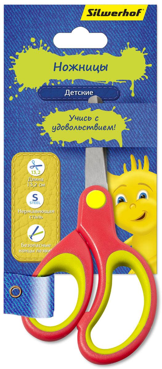 Silwerhof Ножницы детские Джинсовая коллекция цвет коралловый 13,2 смC13S041944Детские ножницы Silwerhof Джинсовая коллекция прекрасно подойдут для детского творчества. Лезвия выполнены из нержавеющей стали с закругленными концами, что делает процесс работы с ними безопасным для ребенка. Благодаря эргономичной форме пластиковых ручек модель отлично ложится как в детскую, так и во взрослую руку.Ножницы хорошо справляются с резкой бумаги, картона и станут незаменимым помощником в процессе создания аппликаций и других поделок.