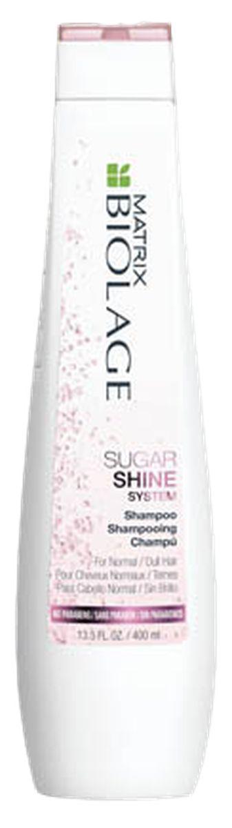 Matrix Biolage Sugar Shine Шампунь для придания блеска тусклым волосам, 250 млMP59.4DПод воздействием окружающей среды, волосы тускнеют, теряют блеск. Шампунь Biolage SUGARSHINE (Шугаршайн) бережно очищает волосы от загрязнений из-за которых они выглядят тусклыми, питает и придаёт глянцевый блеск.