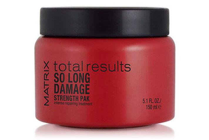 Matrix Total Results So Long Damage Маска с керамидами, 150 млCF5512F4Маска So Long Damage Strength Pack (Соу Лонг Дэмэдж Стренс Пэк) интенсивно восстанавливает и питает волосы, обеспечивая блеск. Возвращает волосам природную силу и делает их более послушными.