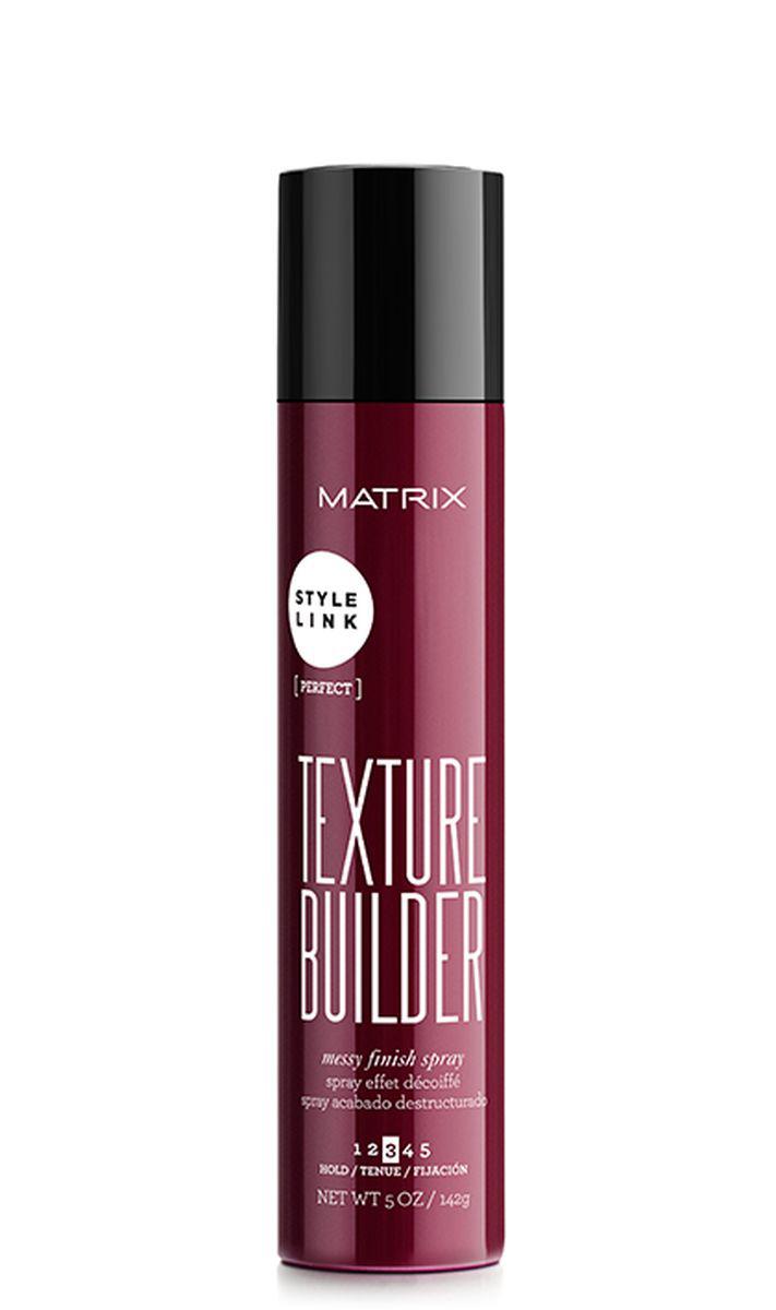 Matrix ТЕКСЧЕР БИЛДЕР Текстурирующий спрей СТАЙЛ ЛИНК 150 МЛSatin Hair 7 BR730MNФинишный продукт текстурирующий спрей Texture Builder (Тексчер Билдер) от MATRIX для фиксации и текстурирования любых укладок. Спрей позволяет придать волосам текстуру в выделенной зоне для создания небрежного образа.
