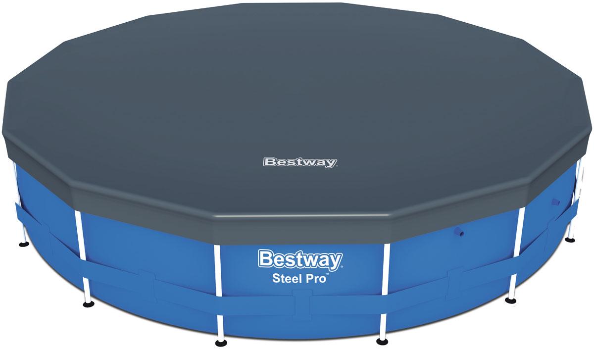 Bestway Тент для каркасных бассейнов, 427 см09840-20.000.00Изготовлено из полимерных материалов. В комплекте шнуры для крепления. Специальные дренажные отверстия помогают избегать скопления воды на поверхности.