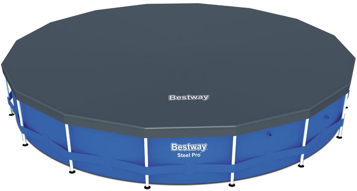 Bestway Тент для каркасных бассейнов 493 см58249Изготовлено из полимерных материалов. В комплекте шнуры для крепления. Специальные дренажные отверстия помогают избегать скопления воды на поверхности.