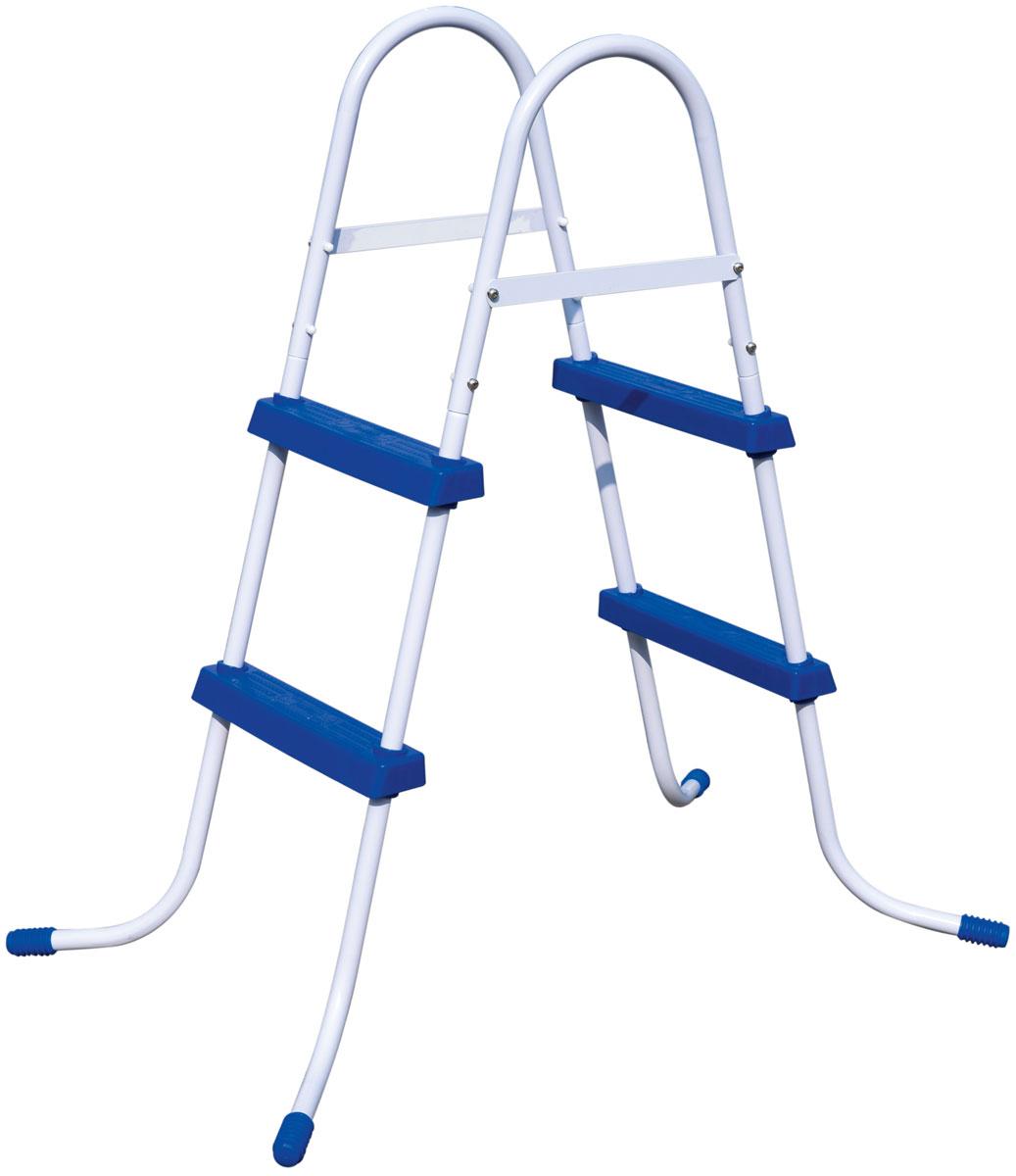 Bestway Лестница для бассейна, высота 84 см58430Лестница для бассейна Bestway выполнена из высококачественного металла, устойчивого к ржавчине. Ступеньки выполнены из прочного пластика с рельефным покрытием, предотвращающим скольжение. Лестница легко собирается, в разобранном виде не занимает много места.Размер лестницы (с учетом поручней): 112 х 66 х 116 см.Высота лестницы (без учета поручней): 84 см.