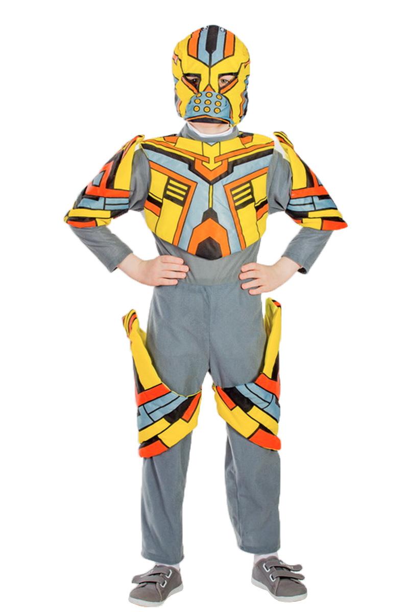 Карнавалия Карнавальный костюм для мальчика Трансформер цвет серый желтый оранжевый размер 134 - Карнавальные костюмы и аксессуары