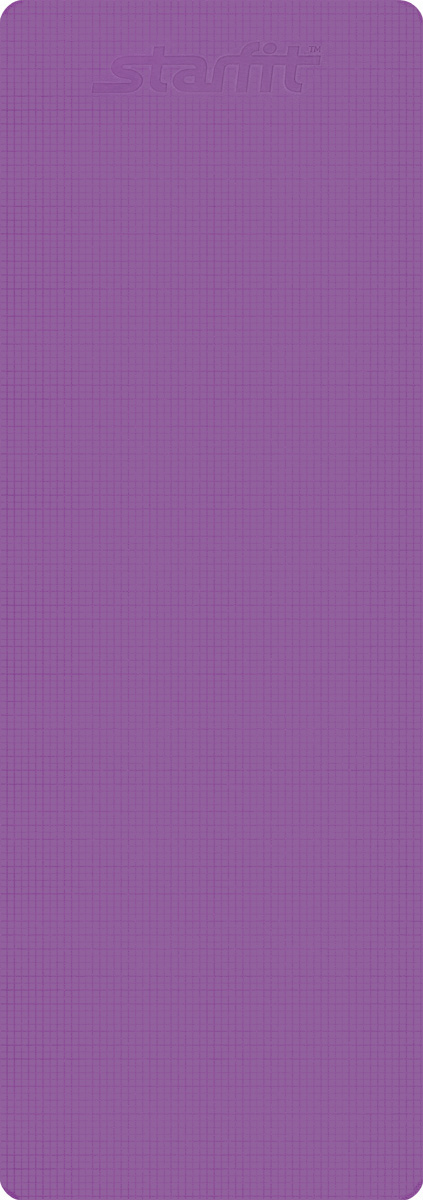 Коврик для йоги Starfit FM-101, цвет: фиолетовый, 173 х 61 х 0,6 смУТ-00008836Коврик для йоги Star Fit FM-101 - это незаменимый аксессуар для любого спортсмена как во время тренировки, так и во время пре-стретчинга (растяжки до тренировки) и стретчинга (растяжки после тренировки). Выполнен из высококачественного ПВХ. Коврик используется в фитнесе, йоге, функциональном тренинге. Его используют спортсмены различных видов спорта в процессе своей тренировки.Предпочтительно использовать изделие без обуви. Если процесс тренировки проходит в обуви, то желательно с мягкой подошвой, чтобы избежать разрыва поверхности коврика.