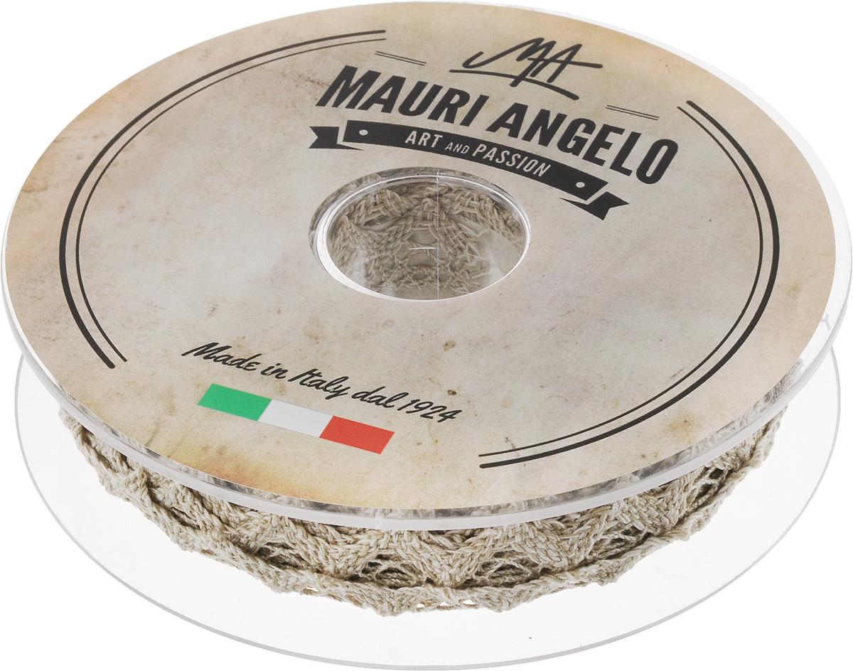 Лента кружевная Mauri Angelo, цвет: серый, 1,8 см х 20 мNLED-454-9W-BKДекоративная кружевная лента Mauri Angelo - текстильное изделие без тканой основы, в котором ажурный орнамент и изображения образуются в результате переплетения нитей. Кружево применяется для отделки одежды, белья в виде окаймления или вставок, а также в оформлении интерьера, декоративных панно, скатертей, тюлей, покрывал. Главные особенности кружева - воздушность, тонкость, эластичность, узорность.Декоративная кружевная лента Mauri Angelo станет незаменимым элементом в создании рукотворного шедевра. Ширина: 1,8 см.Длина: 20 м.
