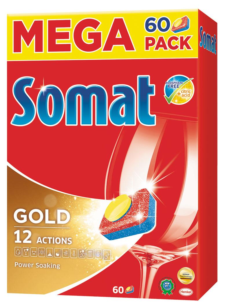 Таблетки для посудомоечной машины Somat Gold, 60 штCLP446Сомат Голд с миллионом активных частиц обеспечивает безупречный результат, легко справляясь с грязью и жиром и устраняя засохшие остатки пищи, как если бы вы предварительно замачивали и опласкивали посуду и включает следующие функции:Очиститель - для великолепной чистоты.Функция ополаскивателя - для сияющего блеска.Функция соли - для защиты посуды и стекла от известкового налета.Удаление пятен от чая.Защита посудомоечной машины против известковых отложений.Активная формула Эффект замачивания помогает устранить засохшие остатки пищи.Защита против коррозии стекла.Блеск нержавеющей стали и столовых приборов.Обеспечивает гигиеническую чистоту.