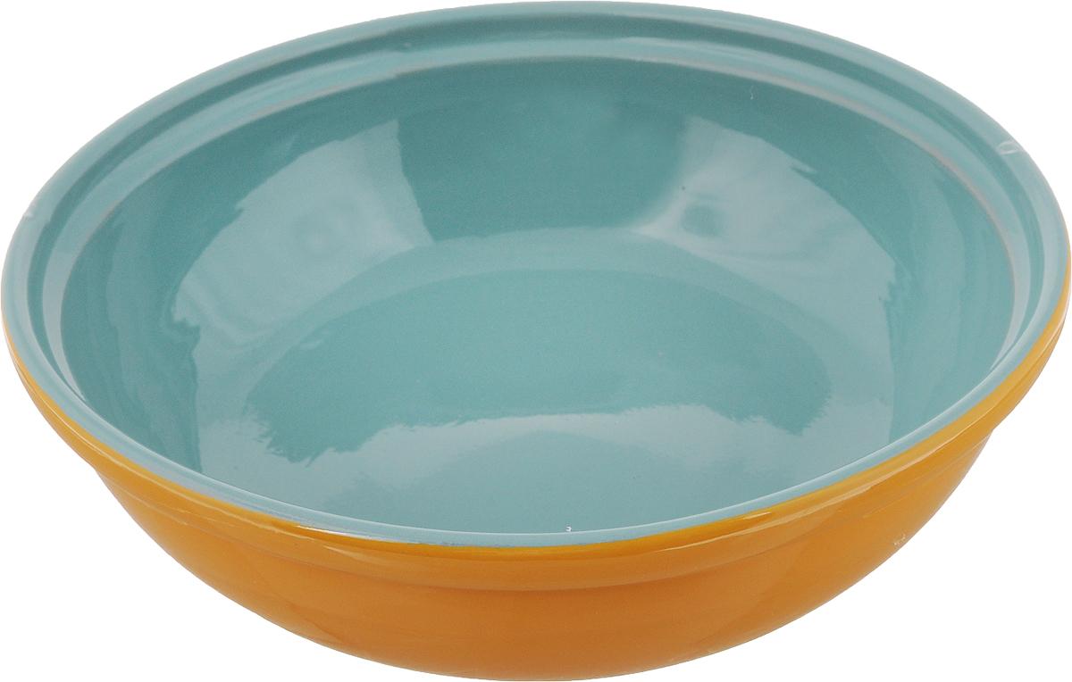 Салатник Борисовская керамика Модерн, цвет: желтый, зеленый, 1 л115510Салатник Борисовская керамика Модерн выполнен из высококачественной глазурованной керамики. Этот удобный салатник придется по вкусу любителям здоровой и полезной пищи. Благодаря современной удобной форме, изделие многофункционально и может использоваться хозяйками на кухне как в виде салатника, так и для запекания продуктов, с последующим хранением в нем приготовленной пищи. Посуда термостойкая. Можно использовать в духовке и микроволновой печи.Диаметр (по верхнему краю): 22 см.Высота стенки: 6 см.