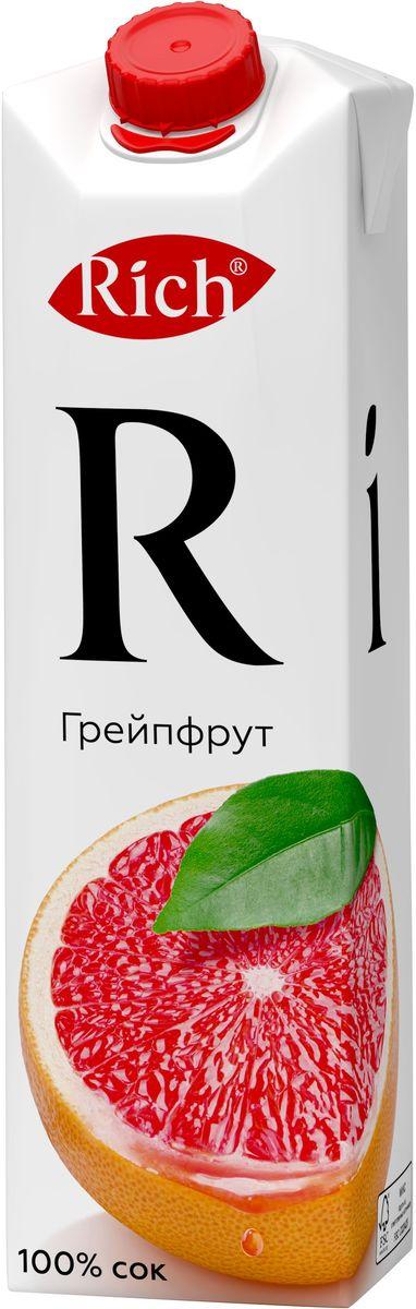 Rich Грейпфрутовый сок, 1 л0120710Откройте для себя яркий и многогранный вкус грейпфрутового сока Rich: цитрусовая свежесть с небольшой горчинкой, лаконично дополненной нежной мякотью.Строгий отбор сочных и свежих фруктов, постоянный контроль производства и готовой продукции - составляющие безупречного качества соков и нектаров Rich, высокие стандарты которого всегда соблюдались с момента запуска на российском рынке.Но что действительно отличает продукцию под маркой Rich - это изысканный, многогранный вкус, рождающийся благодаря сочетанию разных сортов одного фрукта в соках и нектарах.