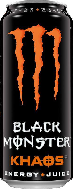 Black Monster Khaos энергетический напиток, 0,5 л9008703000090Наши профессиональные спортсмены постоянно стремятся к новым высотам, поэтому, если у них возникает идея, мы тут как тут. После многомесячных экспериментов в лаборатории мы довели до завершения наш напиток Black Monster Khaos Energy + Juice. Мы стартовали с нашей ори смеси Black Monster, добавили мощную комбинацию соков, усилили полным зарядом нашей энергии и стали ждать. Он ожил… Black Monster Khaos – безумный Juice Monster, искрящийся потрясающим вкусом. Black Monster в сочетании с магией кайфа, который ты знаешь и любишь!30% cока – 100% Black Monster!
