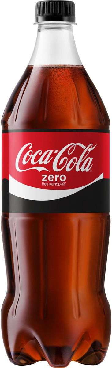 Coca-Cola Zero напиток сильногазированный, 1 л0120710Coca-Cola Zero - освежающий вкус без калорий!