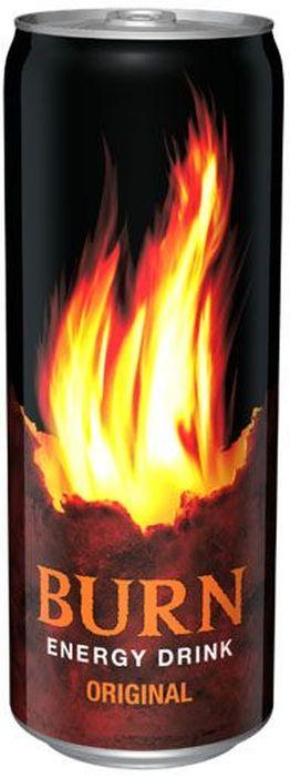 Burn Original энергетический напиток, 0,33 л1378701Burn - это источник энергии для активной жизни 24/7. В состав Burn входят три важных компонента - кофеин, таурин и гуарана, которые помогают снизить усталость, поддерживают работоспособность и концентрацию внимания. Burn - энергетический напиток, который позволяет постоянно находиться в движении, все успевать, быть в курсе самых жарких событий, творить, выдумывать, пробовать. Это энергия в новом формате в любое время от рассвета до рассвета!