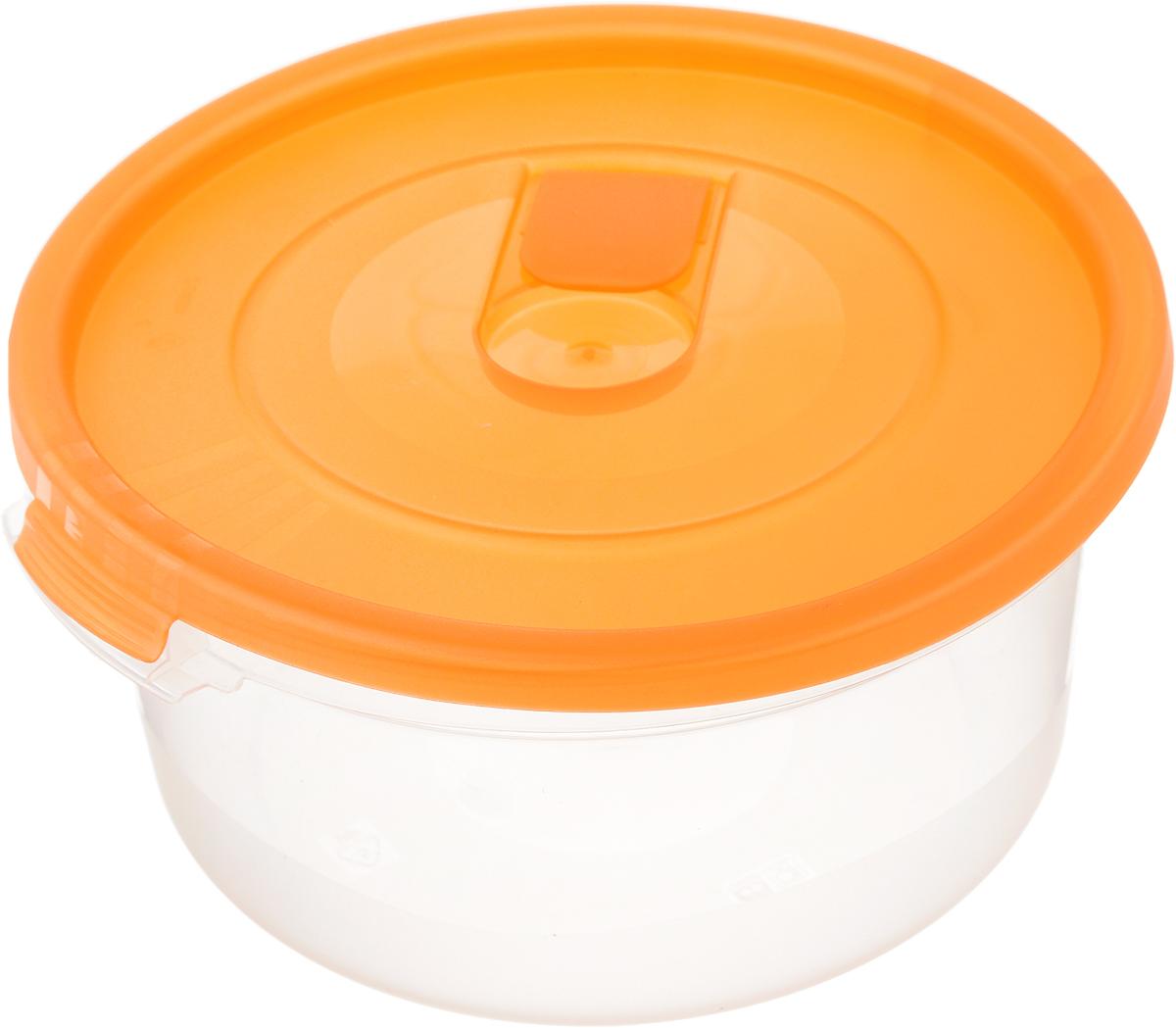 Контейнер Полимербыт Смайл, цвет: оранжевый, 800 млС521_оранжевыйКонтейнер Полимербыт Смайл круглой формы, изготовленный из прочного пластика, специально предназначен для хранения пищевых продуктов. Контейнер оснащен герметичной крышкой со специальным клапаном, благодаря которому внутри создается вакуум и продукты дольше сохраняют свежесть и аромат. Крышка легко открывается и плотно закрывается.Стенки контейнера прозрачные - хорошо видно, что внутри. Контейнер устойчив к воздействию масел и жиров, легко моется. Контейнер имеет возможность хранения продуктов глубокой заморозки, обладает высокой прочностью. Можно мыть в посудомоечной машине. Подходит для использования в микроволновых печах. Диаметр: 15 см. Высота (без крышки): 7 см.