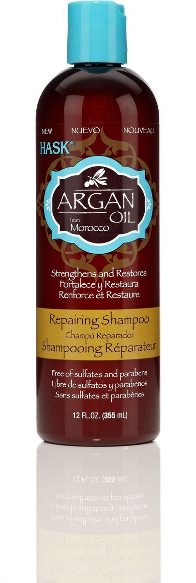 HASK Восстанавливающий шампунь для волос с Аргановым маслом, 355 млFS-00897Восстанавливающий шампунь для волос с Аргановым маслом проникает в структуру волоса и восстанавливает его изнутри. Даже самые поврежденные волосы становятся мягкими и увлажненными. Шампунь идеально подходит для восстановления сухих, поврежденных волос.