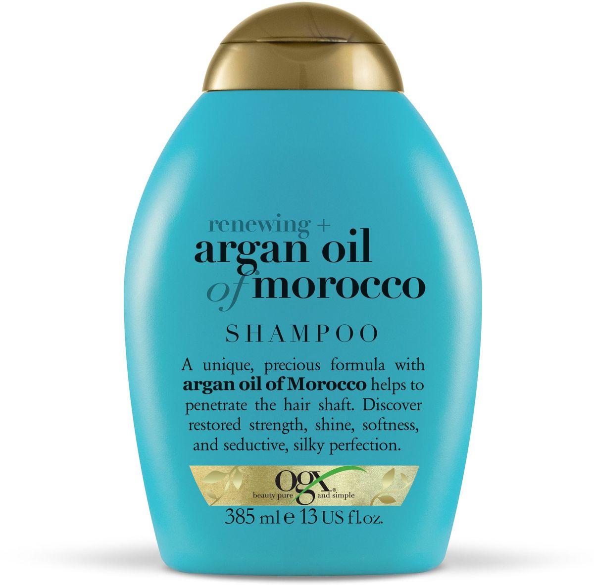 OGX Шампунь для восстановления волос с аргановым маслом, 385 мл.FS-00897Шампунь для восстановления волос с аргановым маслом, обогащенный антиоксидантами, способствует обновлению клеточной структуры волос, придает сияния и мягкость.