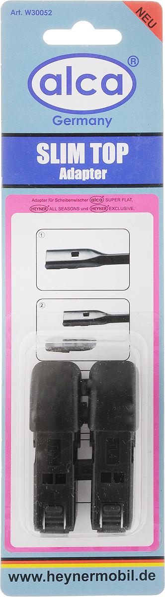Адаптер для щеток Alca Slim top, 2 шт159000Адаптеры Alca Slim top применяются для установки щеток стеклоочистителя автомобиля на поводок типа Slim top. Изделия выполнены из прочного пластика.В комплекте 2 адаптера.