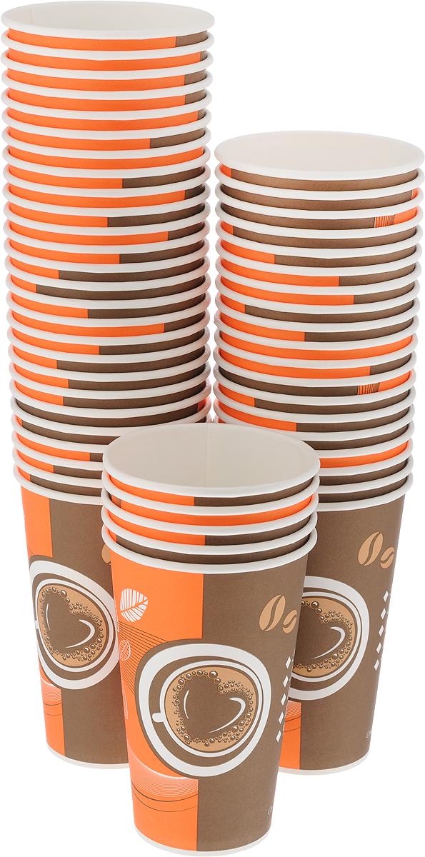 """Набор одноразовых стаканов Huhtamaki """"Кофе с собой"""", 400 мл, 50 шт"""