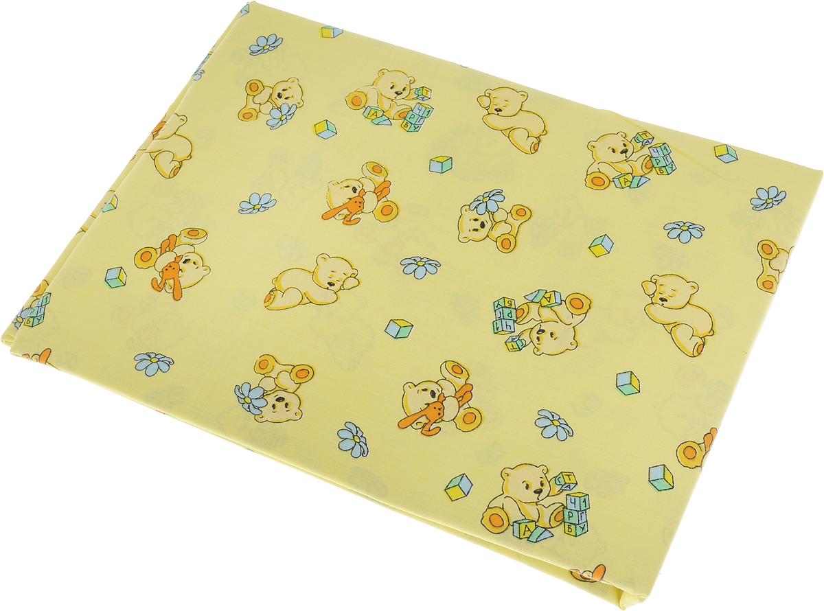 Пододеяльник детский Primavelle Мишка, цвет: желтый, 115 х 145 смRC-100BPCДетский пододеяльник Primavelle Мишка идеально подойдет для одеяла вашего малыша. Изготовленный из натурального 100% хлопка, он необычайно мягкий и приятный на ощупь, позволяет коже дышать. Натуральный материал не раздражает даже самую нежную и чувствительную кожу ребенка, обеспечивая ему наибольший комфорт. Приятный рисунок пододеяльника, несомненно, понравится малышу и привлечет его внимание.Под одеялом с таким пододеяльником ваша кроха будет спать здоровым и крепким сном.