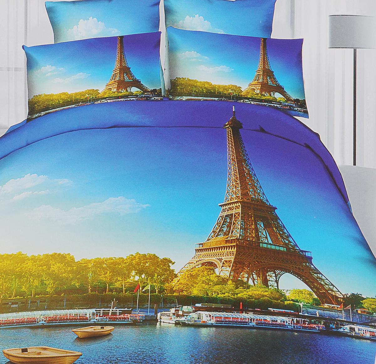 Комплект белья Mango Париж, 2-спальный, наволочки 50х70RC-100BWCКомплект постельного белья Mango Париж, изготовленный из сатина (100% хлопок), поможет вам расслабиться и подарит спокойный сон. Комплект состоит из пододеяльника, простыни и двух наволочек на молнии. Предметы комплекта оформлены 3D рисунком. Постельное белье имеет изысканный внешний вид и обладает яркими, сочными цветами. Благодаря такому комплекту постельного белья вы сможете создать атмосферу уюта и комфорта в вашей спальне. Сатин - производится из высших сортов хлопка, а своим блеском, легкостью и на ощупь напоминает шелк. Такая ткань рассчитана на 200 стирок и более. Постельное белье из сатина превращает жаркие летние ночи в прохладные и освежающие, а холодные зимние - в теплые и согревающие. Благодаря натуральному хлопку, комплект постельного белья из сатина приобретает способность пропускать воздух, давая возможность телу дышать. Одно из преимуществ материала в том, что он практически не мнется и ваша спальня всегда будет аккуратной и нарядной.