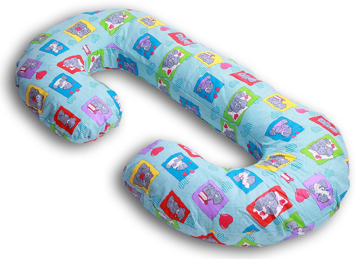 Body Pillow Чехол для подушки для беременных С-образный цвет голубой -  Чехлы для подушек беременным