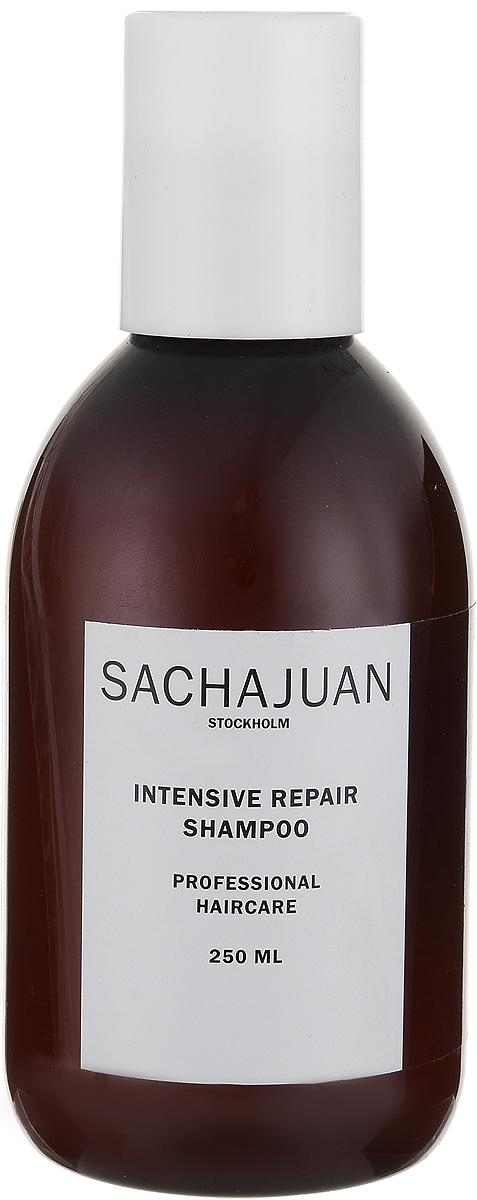 """Sachajuan Шампунь для волос интенсивно восстанавливающий 250 млMP59.4DИнтенсивный уход для ослабленных, пористых, сухих и поврежденных солнечными лучами волос. Активные вещества технологии """"Морской шелк"""" в сочетании с компонентами, защищающими от ультрафиолетового излучения, глубоко проникают в волосяную луковицу, продолжая восстанавливать и питать ее даже после смытия шампуня. После применения нанесите кондиционер для интенсивного восстановления."""