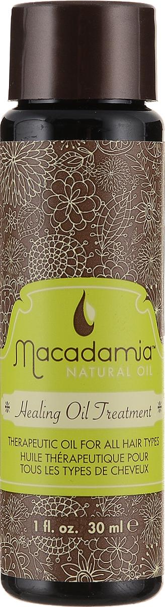 Macadamia Natural Oil Масло для волос Healing oil treatement, восстанавливающее, 30 млММ12Терапевтический уход Macadamia Natural Oil Healing oil treatement оптимально подходит любому типу волос, но особенно полезен для сухих и поврежденных волос. Обеспечивает интенсивное питание моментально проникая в структуру волоса, увлажняет, насыщает их витаминами и антиоксидантами. Волосы становятся ультра-гладкими, послушными и блестящими и легко расчесываются. Предотвращает выцветание интенсивности и насыщенности цвета окрашенных волос. Натуральная уф-защита.Товар сертифицирован.