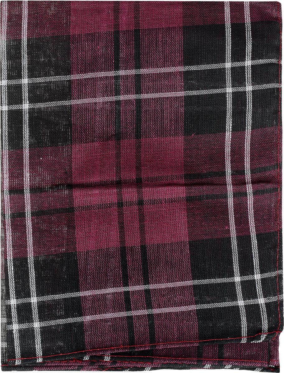 Платок носовой мужской Zlata Korunka, цвет: черный, бордовый, белый. 45449. Размер 33 см х 35 смСерьги с подвескамиМужской носовой платок Zlata Korunka, изготовленный из натурального хлопка, приятен в использовании и хорошо стирается. Материал не садится и отлично впитывает влагу. Модель оформлена оригинальным принтом.