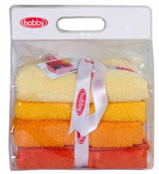 Набор полотенец Hobby Home Collection Rainbow, цвет: желтый, оранжевый, темно-оранжевый, 50 х 90 см, 4 шт1004900000360Набор Hobby Home Collection Rainbow состоит из четырех махровых полотенец, выполненных из натурального 100% хлопка. Изделия мягкие, отлично впитывают влагу, быстро сохнут, сохраняют яркость цвета и не теряют форму даже после многократных стирок. Полотенца Hobby Home Collection Rainbow очень практичны и неприхотливы в уходе. Они легко впишутся в любой интерьер благодаря своей нежной цветовой гамме.Размер полотенец: 50 х 90 см.