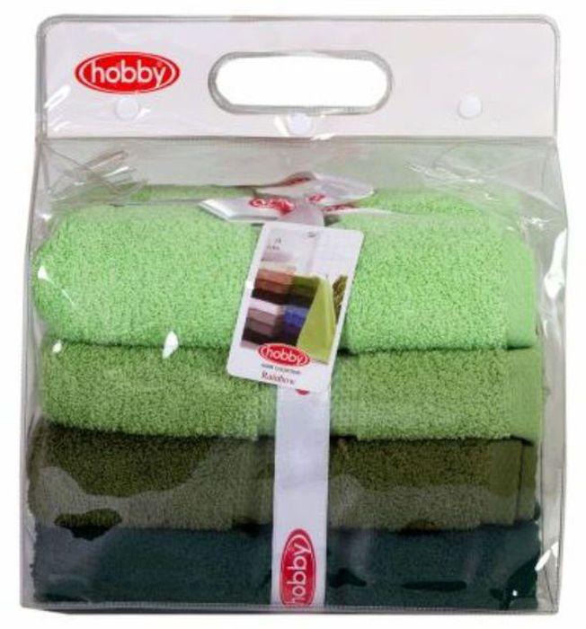Набор полотенец Hobby Home Collection Rainbow, цвет: светло-зеленый, оливковый, темно-зеленый, 50 х 90 см, 4 шт1092019Набор Hobby Home Collection Rainbow состоит из четырех махровых полотенец, выполненных из натурального 100% хлопка. Изделия мягкие, отлично впитывают влагу, быстро сохнут, сохраняют яркость цвета и не теряют форму даже после многократных стирок. Полотенца Hobby Home Collection Rainbow очень практичны и неприхотливы в уходе. Они легко впишутся в любой интерьер благодаря своей нежной цветовой гамме.Размер полотенец: 50 х 90 см.
