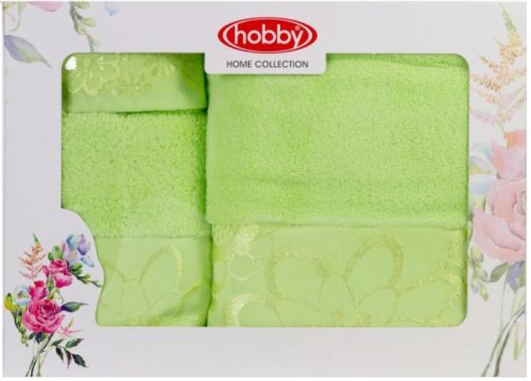 Набор полотенец Hobby Home Collection Dora, цвет: зеленый, 3 штBH-UN0502( R)Набор Hobby Home Collection Dora состоит из трех махровых полотенец, выполненных из натурального 100% хлопка. Изделия мягкие, отлично впитывают влагу, быстро сохнут, сохраняют яркость цвета и не теряют форму даже после многократных стирок. Полотенца Hobby Home Collection Dora очень практичны и неприхотливы в уходе. Они легко впишутся в любой интерьер благодаря своей нежной цветовой гамме.