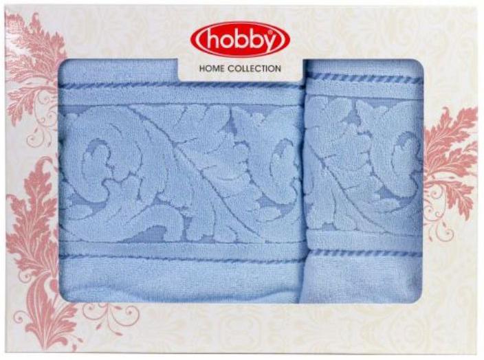 Полотенце махровое Hobby Home Collection Sultan, цвет: голубой, 50х90 см, 70х140 см, 2 шт.2850621Полотенца марки Хобби уникальны и разрабатываются эксклюзивно для данной марки. При создании коллекции используются самые высокотехнологичные ткацкие приемы. Дизайнеры марки украшают вещи изысканным декором. Коллекция линии соответствует актуальным тенденциям, диктуемым мировыми подиумами и модой в области домашнего текстиля.