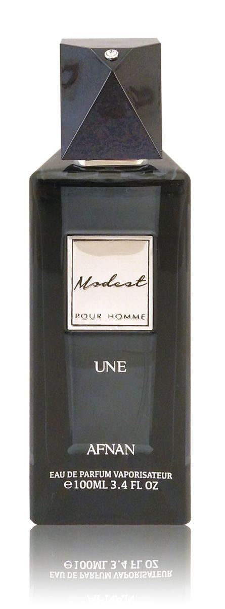 Afnan Modest Pour Homme Une Парфюмерная вода мужская, 100 мл1301028Сдержаный и благородный аромат на каждый день. Тепло амбры и свежесть цитрусов дополнены нотамм мускуса. Стойкий длинный шлейф •Верхние ноты:амбровые•Ноты сердца:пряные, цитрусовые•Базовые ноты: мускус