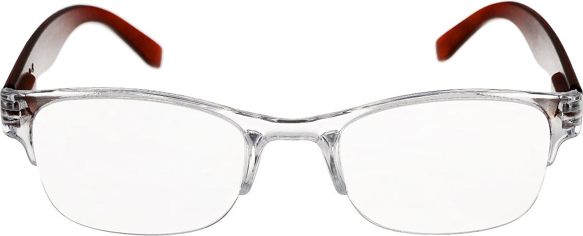 Proffi Home Очки корригирующие (для чтения) 322 Fabia Monti +4.00, цвет: прозрачный, коричневыйPH5572Корригирующие очки, это очки которые направлены непосредственно на коррекцию зрения. Готовые очки для чтения с минусовыми и плюсовыми диоптриями (от -2,5 до + 4,00), не требующие рецепта врача. За счет технологически упрощенной конструкции и отсуствию этапа изготовления линз по индивидуальным параметрам - экономичный готовый вариант для людей, пользующихся очками нечасто, в основном, для чтения.
