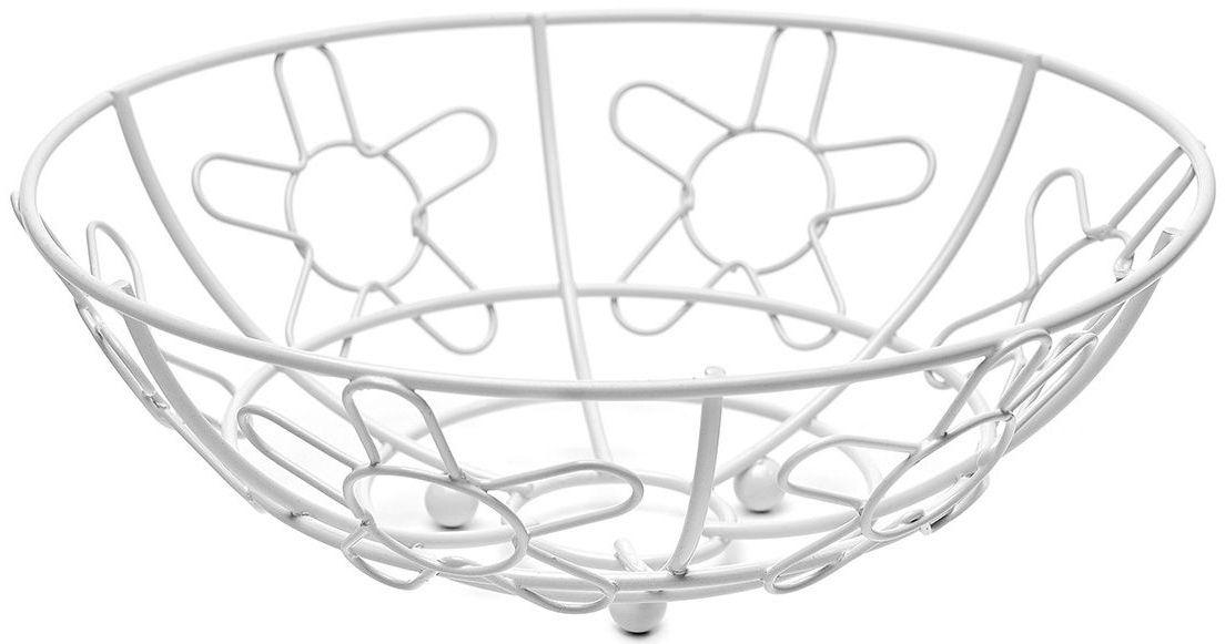 Корзина для фруктов Walmer Flower, цвет: белый, диаметр 24 см115510Каждому хочется иметь на своей кухне стильный и практичный аксессуар, которыйбудет не только красивой частью интерьера, но и прекрасным помощником. Именно такая вещь – корзина для фруктов из серии Flower от известной британской фирмы Walmer. Легкая, яркая и стильная – это то, что приходит в голову при взгляде на нее. Поставьте ее на стол к приходу гостей или во время семейного ужина, и вы увидите, как преобразится ваш интерьер. Корзина для фруктов не будет занимать слишком много места на вашей кухне, ведь ее окружность всего 24 см. Но, несмотря на свой небольшой размер, она очень вместительна. Корзина изготовлена в популярной и практичной круглой форме. Она удачнодополнит любой интерьер и станет удачным подарком для друзей и близких.