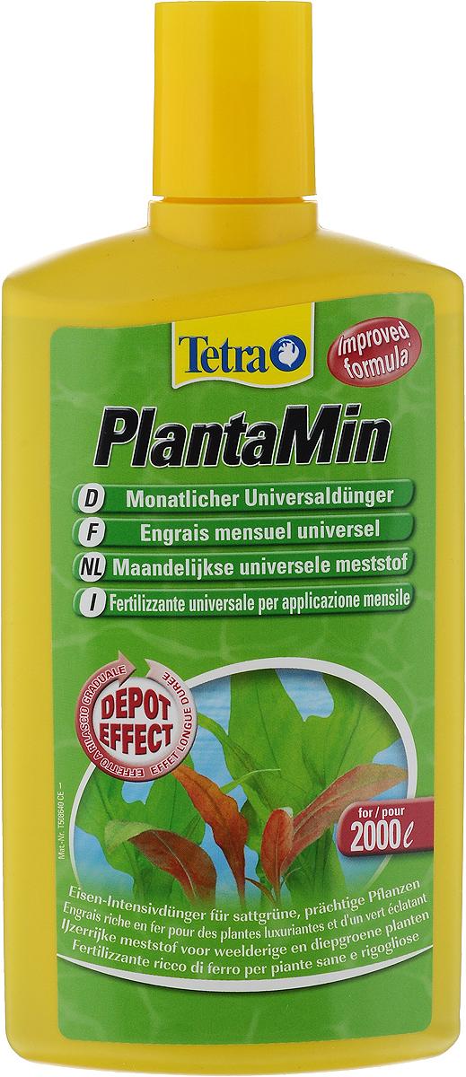 Жидкое удобрение Tetra PlantaMin, с железом и микроэлементами, 500 мл0120710Tetra PlantaMin - это жидкое удобрение высокого качества, содержащее железо, необходимое для обильного роста растений, а также другие питательные микроэлементы, необходимые для роста, такие как калий и марганец. Препарат равномерно распределяется в воде и проникает в растения через листья, укрепляет растения питательными веществами на протяжении долгого времени. Способствует образованию хлорофилла, ответственного за насыщенный цвет растений. Предотвращает рост водорослей. Не содержит нитратов, фосфатов и не вызывает загрязнения воды. Способ применения: 5 мл на 10 литров. Применять при запуске аквариума и при каждой подмене воды. Кондиционер идеален для применения вместе с раствором Tetra Vital. Товар сертифицирован.
