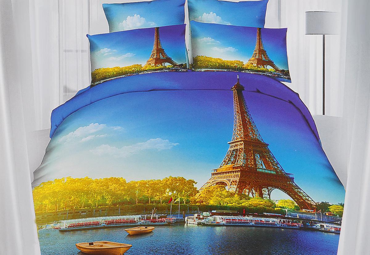Комплект белья Mango Париж, 1,5-спальный, наволочки 50х70391602Комплект постельного белья Mango Париж является экологически безопасным для всей семьи, так как выполнен из 100% хлопка. Комплект состоит из пододеяльника, простыни и двух наволочек. Наволочки застегиваются на молнию. Постельное белье оформлено оригинальным рисунком и имеет изысканный внешний вид.Легкая, плотная, мягкая ткань отлично стирается, гладится, быстро сохнет. Рекомендуется стирка в прохладной воде при температуре не выше 40°С.